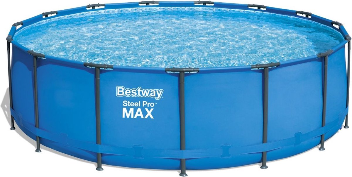 Bestway Steel Pro Max - Zwembad - Ø 457 x 122 cm - TriTech materiaal - Seal & Lock systeem