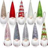 Kerstversiering   Kerstdecoratie voor binnen   Kerstboomversiering   Gnomes 10 stuks