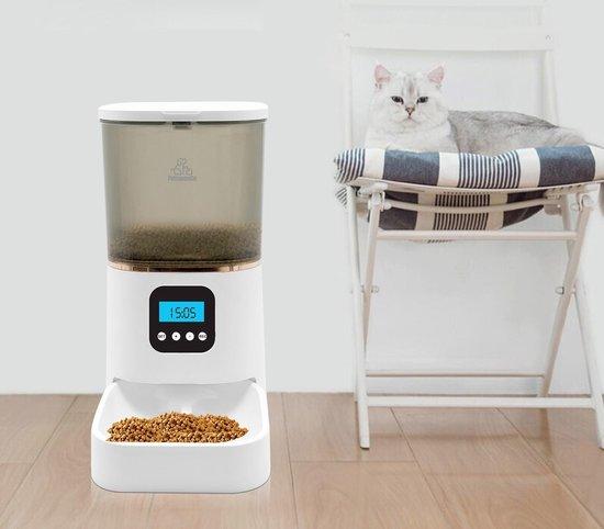 Automatische Programmeerbare Voerbak voor Kat en Hond - Voerautomaat kat - Voerdispenser - 6L - Voederapparaat