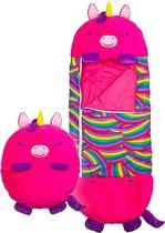 Happy napper -180 cms |slaapzak junior | nappers | Children Sleeping Bag | kinderen slaapzak | Super Soft 2 in 1 Fun Pillow &Sleepy for Boys | unicorn slaapzak | zachte slaapzak | knuffel slaapzak | 2 in 1 slaapzak | kinderen