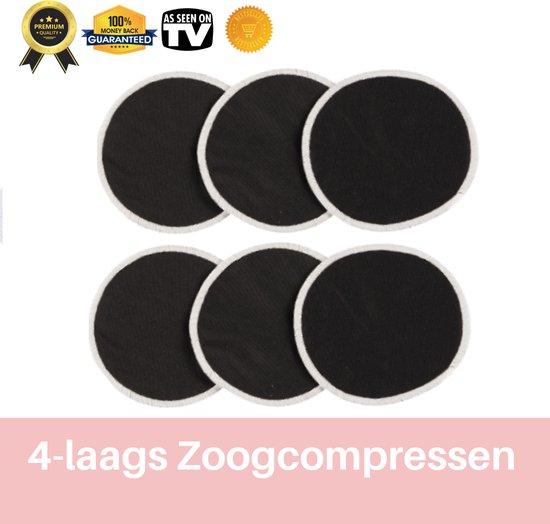 Premium zoogcompressen - zwart - set van 7 - inclusief draagtas - bamboe...