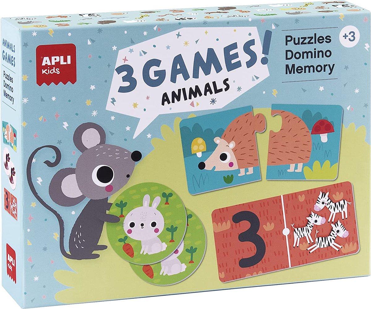 APLI Kids - Dieren Puzzel - Domino & Memory