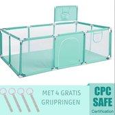 Speelbox Baby GROEN 188*128*66cm - Kinderbox - Playpen - Grondbox - Babybox -  Kruipbox - Kinderen - Peuter - Kleuter - Camping - Vakantie
