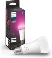 Philips Hue standaardlamp E27 Lichtbron - White and Color Ambiance - 1-pack - 1600lm - Bluetooth