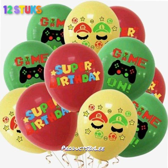 Super Mario- Happy Birthday- Ballonnen - Set van 12 -Latex-