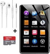 MP3 Speler - MP3 Speler inclusief Oordopjes - MP3 64GB Geheugen INCLUSIEF SD Kaart - MP3 Speler Zwar