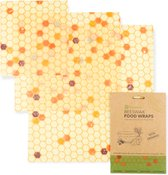 Biologische Bijenwas Doeken | Bijenwas  Wraps | Organic Beeswax Wraps | Alternative to Cling Film | 3 Pack Combinatie S/M/L | Herbruikbaar | Plastic Vrij | Duurzaam Product | 3 Pack