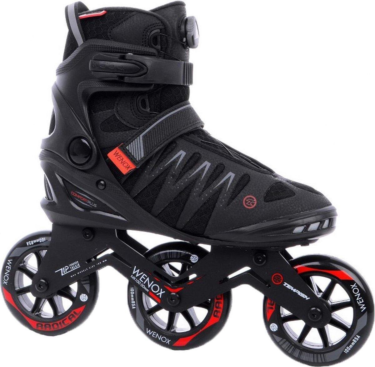 Tempish - Skeelers - Wenox - Top 100 - Zwart/Rood - Maat 40 - Heren - Skates