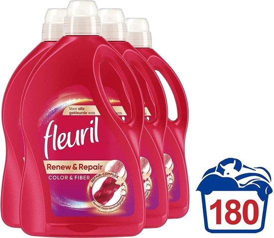 Fleuril Renew & Repair Color & Fiber Wasmiddel - Gekleurde Was - 4x45 wasbeurten - Vanavondinhuis voordeelverpakking.