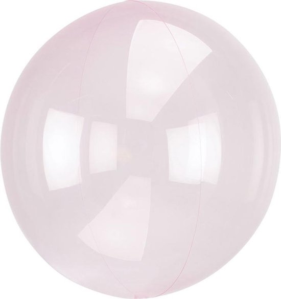 Ballon Orb Crystal Licht Roze - 46 Centimeter
