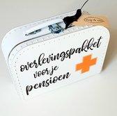 Koffertjes van Bep&co: Pensioenkoffertje -pensioen -afscheidscadeau -herinneringskoffertje