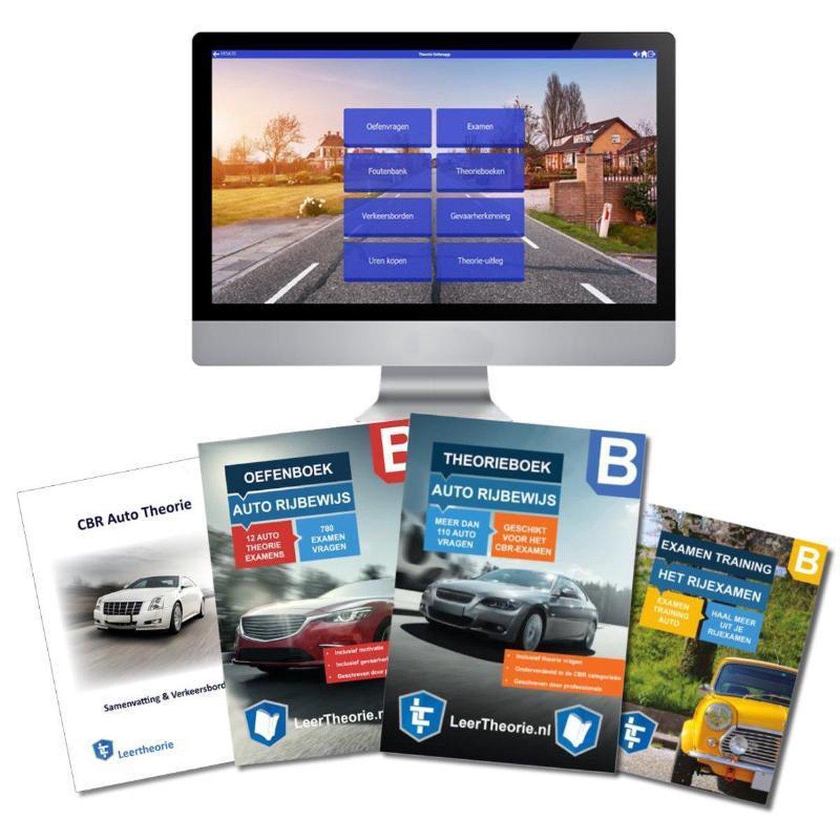 AutoTheorieboek Rijbewijs B Deluxe Compleet Geslaagd  - Auto Theorieboek Rijbewijs B + Oefenboek + O