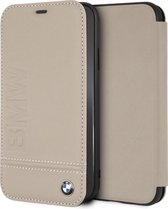 iPhone XR Bookcase hoesje - BMW - Effen Taupe - Leer