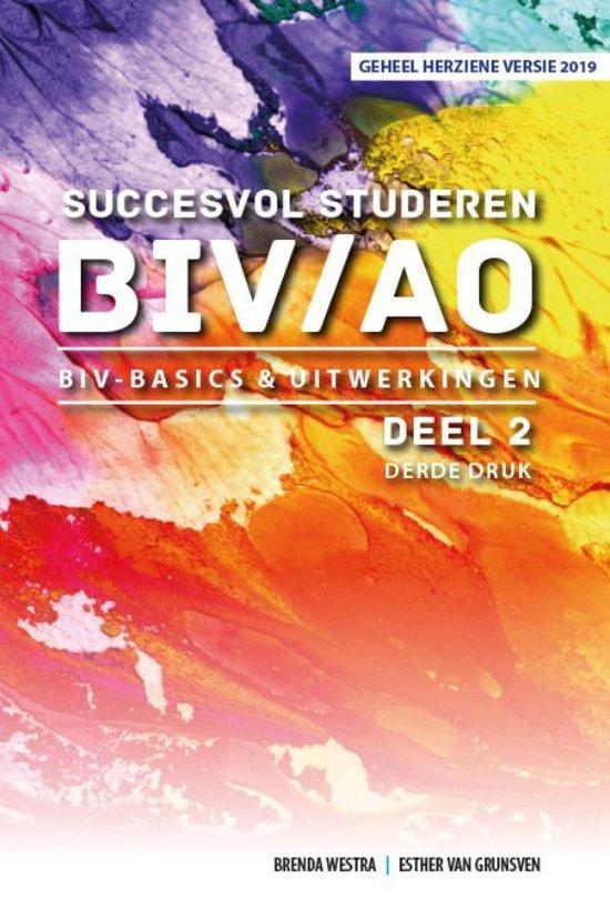 Succesvol Studeren voor BIV/AO 2 - BIV Basics & Uitwerkingen - Brenda Westra  