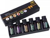 6 Essentiële Olie - Aromatherapie - Cadeau Set - Geschikt voor Aroma Diffuser- Essentiële Olie Set - Etherische Oliën - Essentiële Oliën - Etherische Oliën Set - Voordelig - #1  Werelds Beste Geuren