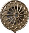 IVC Air overdrukrooster | Romantic 125 | Ø 125 mm | met horrengaas | vintage jaren '30 uitstraling | gietaluminium | grijs/groen/brons | luchtdoorlaat 67 cm²