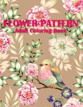 Flower Pattern Coloring Book For Adults