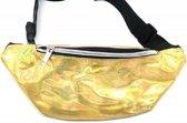 Dielay - Fanny Pack Festival Tas - Metallic Heuptas - Hip Pack / Waist Bag - 30x12 cm - Goudkleurig