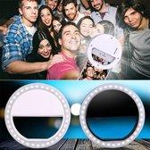 BuySafe24/7 Universele Oplaadbare Selfie Ring / Geschikt voor alle smartphones / Selfie Ring Light Clip / Oplaadbaar / WIT / RK-12Lumen