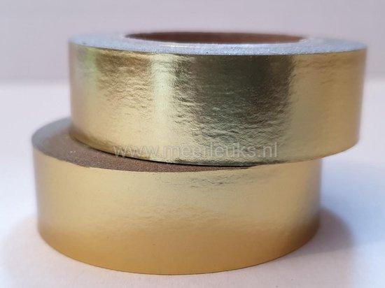 Afbeelding van Washi Tape Goud Foil - 10 meter x 1,5 cm. - Masking Tape Goud Glanzend speelgoed