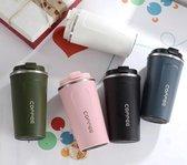 Koffiebeker To Go - RVS thermosbeker - Drinkfles - Herbruikbare koffiebeker - 500 ml - Blauw