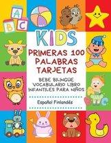 Primeras 100 Palabras Tarjetas Bebe Bilingue Vocabulario Libro Infantiles Para Ninos Espanol Finlandes