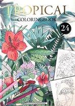 Tropical Kleurboek voor Volwassenen met 24 Nieuwe Kleurplaat Designs