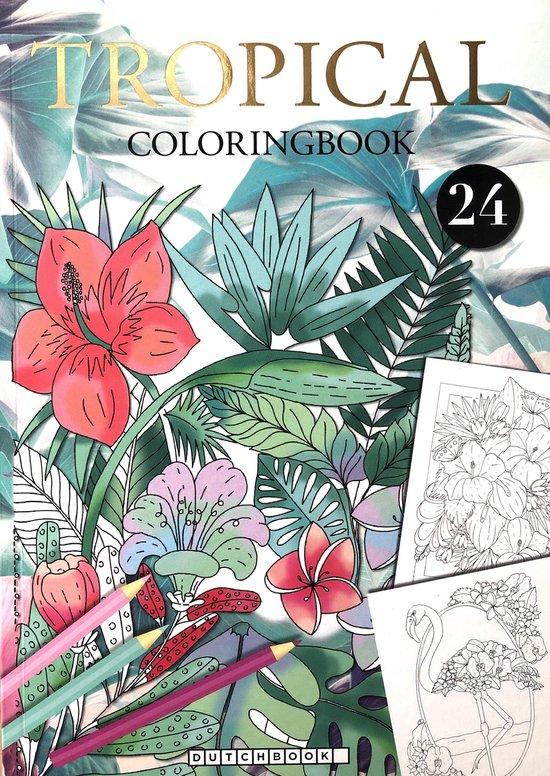 Afbeelding van Tropical Kleurboek Voor Volwassenen Met 24 Nieuwe Kleurplaat Designs