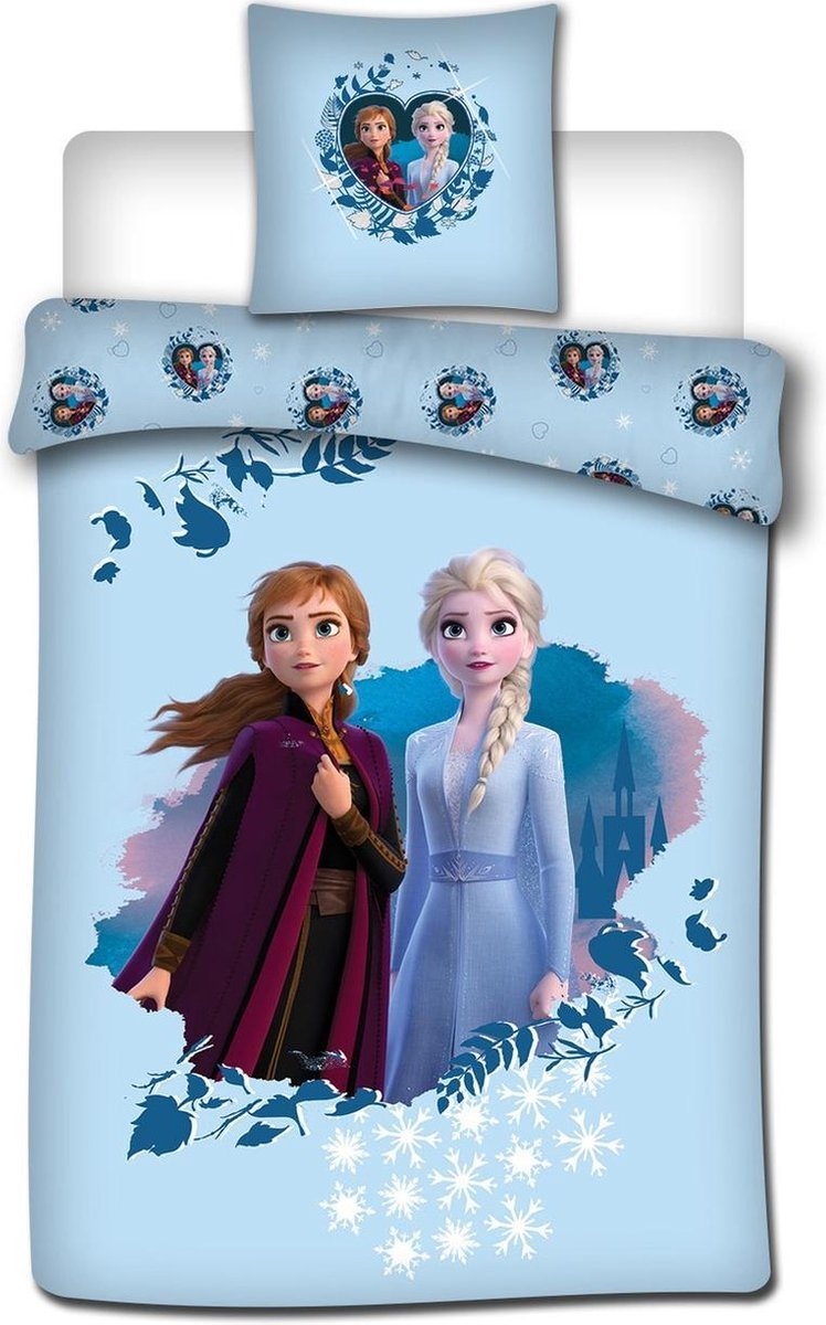 Disney Frozen Dekbedovertrek - Eenpersoons - 140 x 200 cm - Flanel kopen
