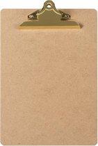 LPC  Klembord - clipboard - hout/mdf/hardboard- A4 -145 mm butterfly klem goud
