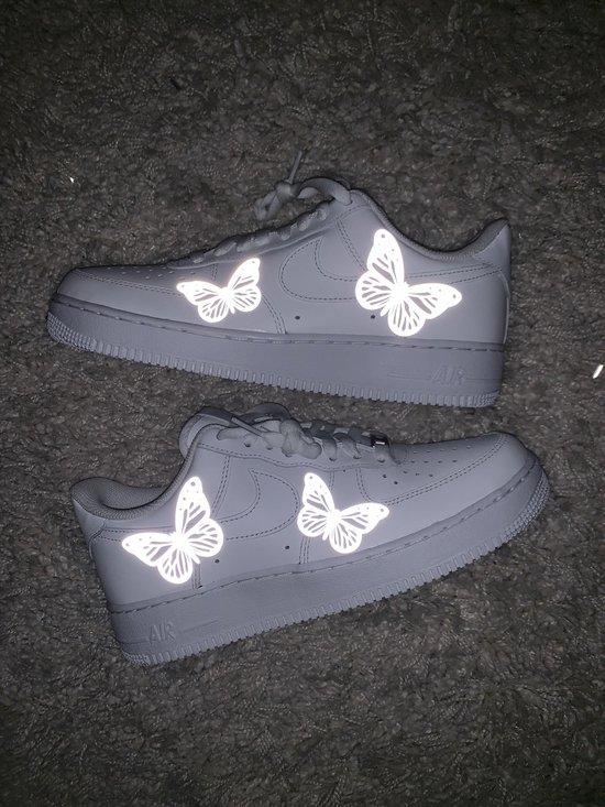 Custom Nike Air Force 1 Blue Butterfly