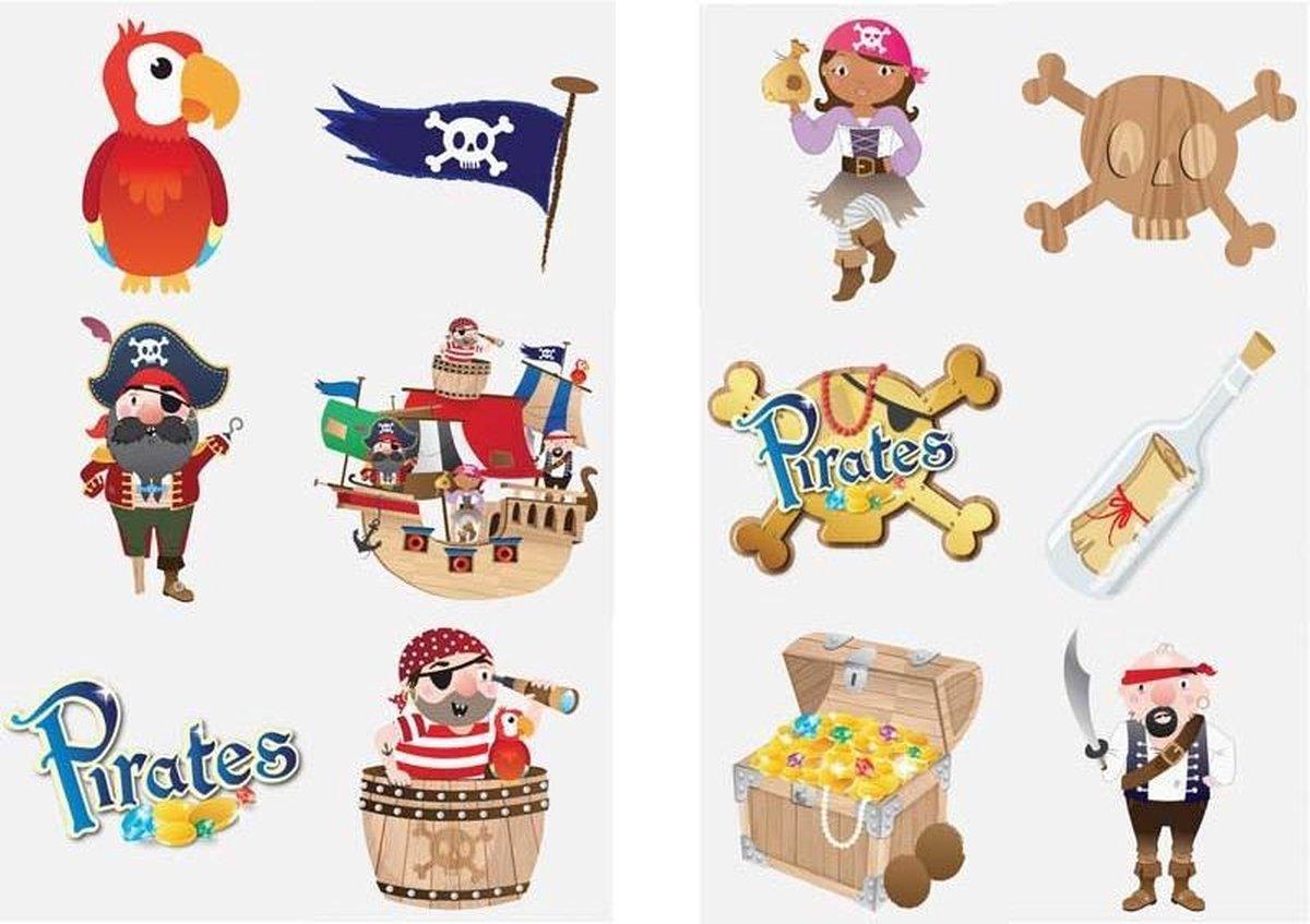 Tattoos kinderen - Dino - Superhelden - Piraten - Tijdelijke tattoo jongens en meisjes - Uitdeelcade