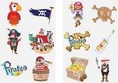 Tattoos kinderen - Dino - Superhelden - Piraten - Tijdelijke tattoo jongens en meisjes - Uitdeelcadeautjes - 36 stuks