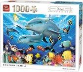 King Puzzel 1000 Stukjes - Dolfijnen Familie