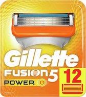 Gillette Fusion5 Power Scheermesjes Mannen - 12 Stuks