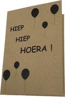 Kraft 'Hiep Hiep Hoera !' verjaardagskaart - incl envelop
