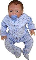 """Babypop Zachte siliconen Vinyl50 cm 20"""" Reborn Baby Doll Levensechte jongen Blauwe ogen pasgeboren Baby Xmas cadeau"""