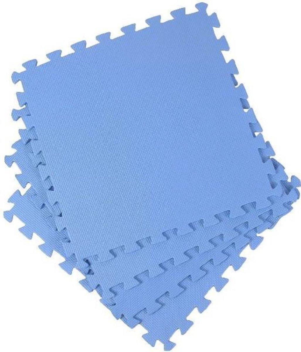 Zwembadtegels | 50x50x0,4| Ondervloer | Dunne Ondertegels | Anti Slip| Blauw