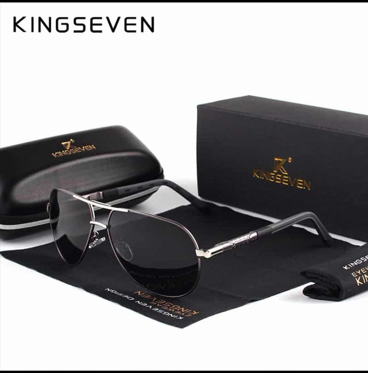Kingseven Heren Zonnebril - Zwart