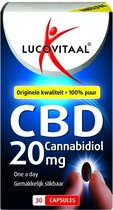 Lucovitaal CBD 20 milligram Cannabidiol Voedingsupplement - 30 capsules
