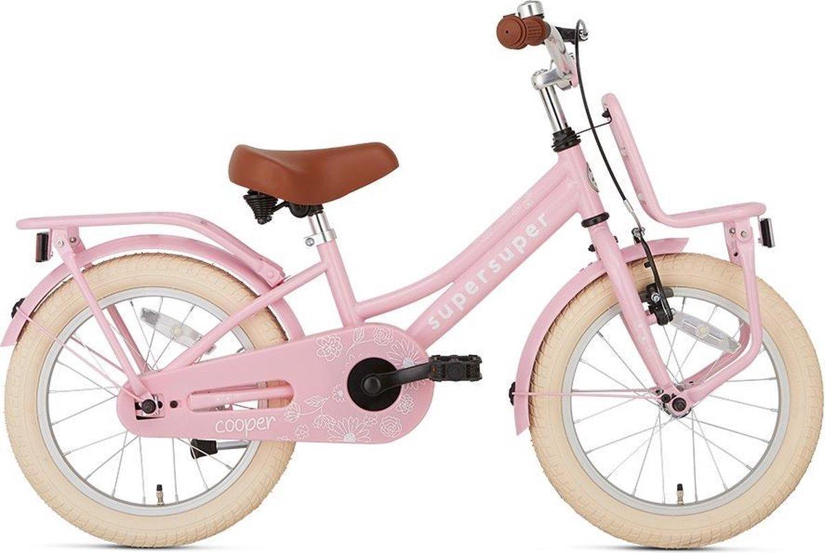Supersuper Cooper Kinderfiets - Meisjes - 16 inch - Roze