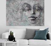 Unieke Vrouwen Gezicht – Canvas Schilderij 120 x 80 CM canvasschilderijen.com