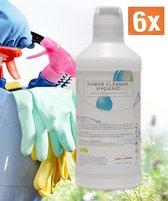 Power Cleaner Pomelo 100 % concentraat allesreiniger 6x2 Liter 1 op 10 verdunnen Kalk & Glans & Ontvetter