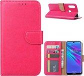 Huawei Y6 2019 - Bookcase Roze - portemonee hoesje