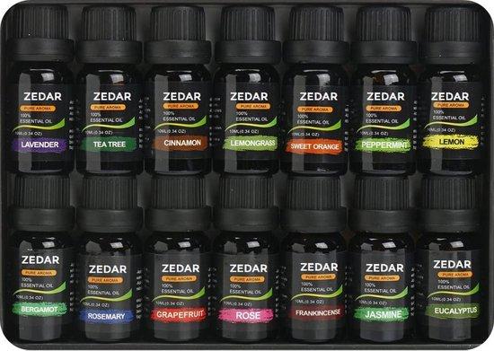 Etherische olie | Geurolie | Essentiele olie | Met o.a. Lavendel en Eucalyptus set van 14 stuks