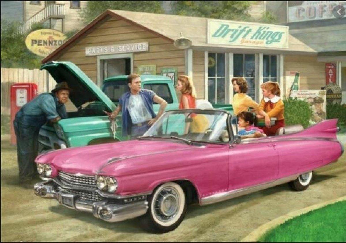 Eurographics 1959 Cadillac Eldorade - The pink caddy (1000 stukjes legpuzzel)