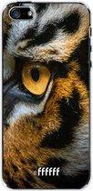 iPhone SE (2020) Hoesje Transparant TPU Case - Tiger #ffffff