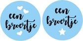 Etiketstickers een broertje met hart / ster 10stuks per vel