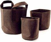 RootPouch BOXER BROWN 3,8 ltr met handvaten  Ø15x19cm 250gr/m2 10st/bundel