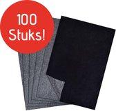 Trizzle Carbonpapier 100 stuks A4 Formaat – Carbonpapier voor Hobby – Overtrekpapier  – Zwart – Calqueerpapier